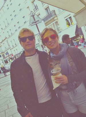 Josh Hutcherson in Paris