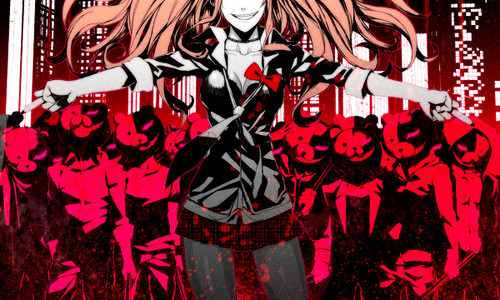 Dangan Ronpa kertas dinding containing Anime titled Junko Enoshima