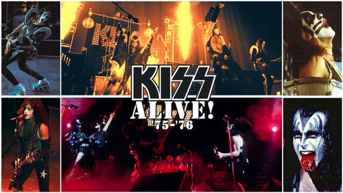 KISS wallpaper with anime titled KISS Alive