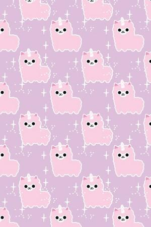 Kawaii Alpaca Pastel iPhone karatasi la kupamba ukuta