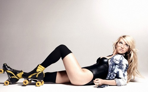Ke$ha wallpaper with bare legs, hosiery, and tights entitled Ke$ha 0003
