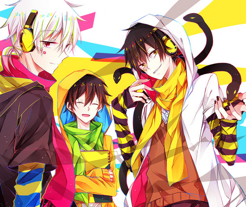 Mekaku City Actors wallpaper probably with anime entitled Konoha/Haruka/Kuroha