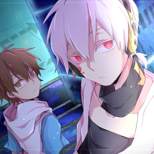 Mekaku City Actors 壁紙 probably containing アニメ titled Konoha and Hibiya