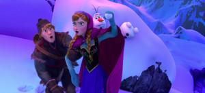 Kristoff, Anna and Olaf