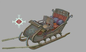 Kristoff's sleigh Concept Art