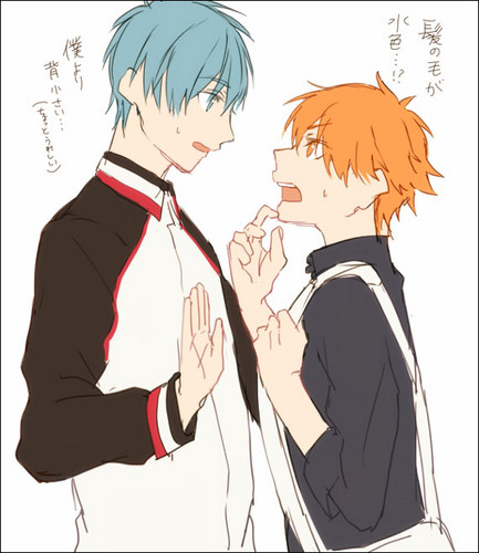 Haikyuu!!(High Kyuu!!) Hintergrund with Anime entitled Kuroko and Hinata crossover