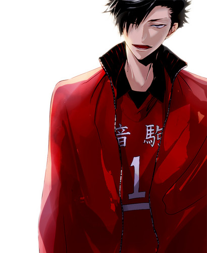 Haikyuu!!(High Kyuu!!) wallpaper probably with an outerwear, a well dressed person, and a leisure wear called Kuroo Tetsurou