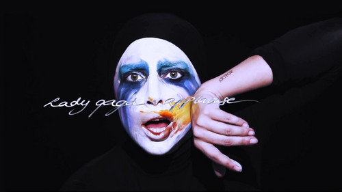 Lady Gaga karatasi la kupamba ukuta entitled Lady GaGa Applause