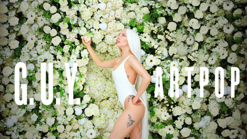 Lady Gaga karatasi la kupamba ukuta with a picket fence entitled Lady GaGa G.U.Y