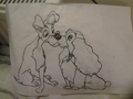 Lady and The Tramp (drawn)