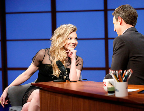 Natalie Dormer wallpaper entitled Late Night Show with Seth Meyers - April 22nd 2014