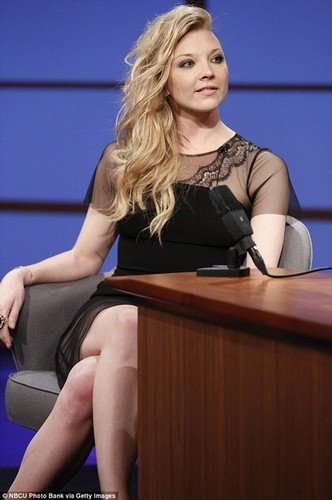 natalie dormer fondo de pantalla titled Late Night mostrar with Seth Meyers - April 22nd 2014