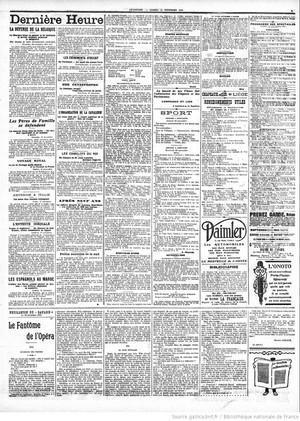 """Le Gaulois """"Le Fantôme de l'Opéra"""""""