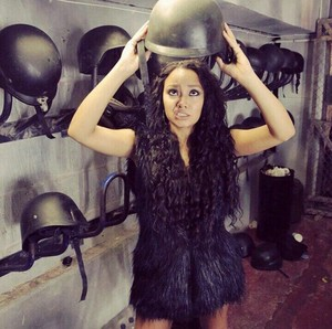Leigh - Anne on the set of Salute