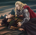 Loki/fan art - loki-thor-2011 fan art