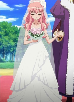 Louise in her wedding dress