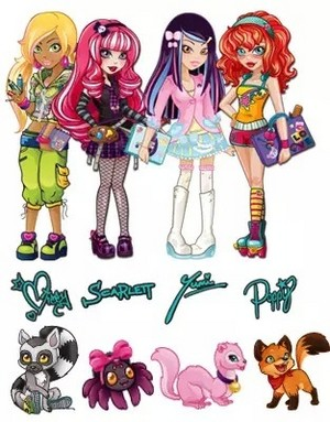 Lulu girls and pets