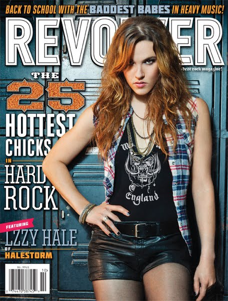 Lzzy Hale on Revolver magazine's cover