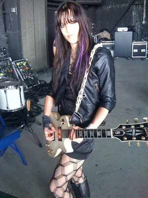 Lzzy Hale with her Gibson gitar