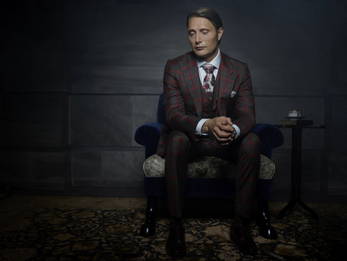 Hannibal TV Series wallpaper containing a business suit, a well dressed person, and a suit entitled Mads Mikkelsen as Dr. Hannibal Lecter