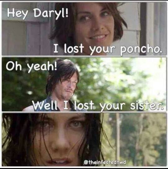 Maggie and Daryl are even.