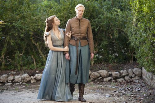 Margaery Tyrell wallpaper titled Margaery Tyrell and Brienne Of Tarth Season 4