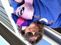Me   Twilight plushie on the roof XD - my-little-pony-friendship-is-magic photo