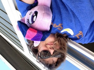 Me Twilight plushie on the roof XD