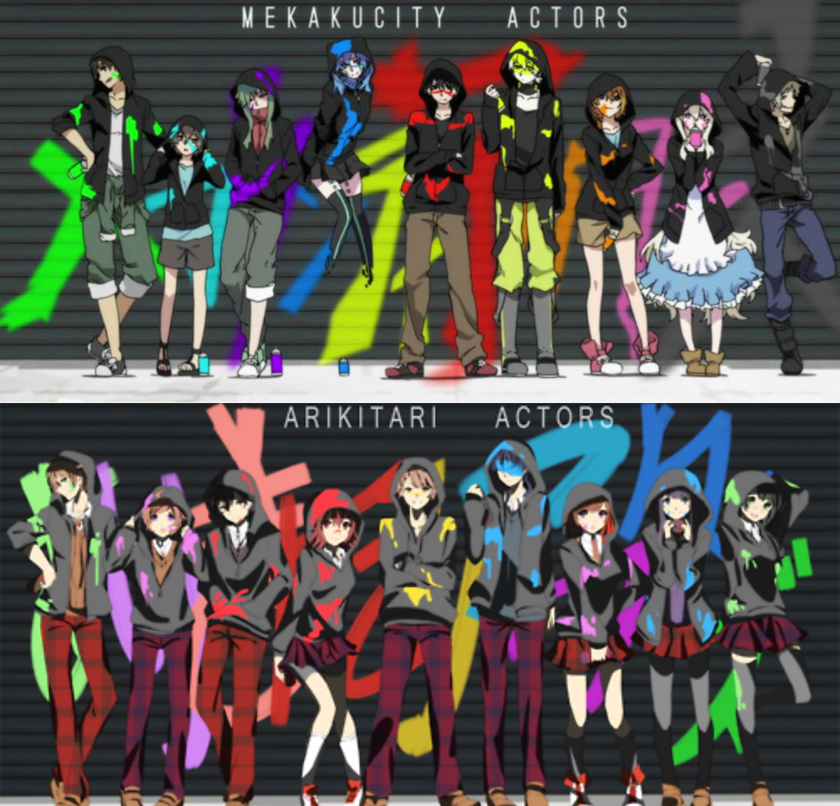 Mekakucity Actors x Arikitari Actors