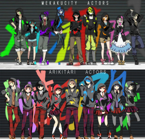 Mekaku City Actors achtergrond called Mekakucity Actors x Arikitari Actors