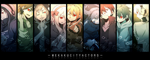 Mekaku City Actors wallpaper possibly with a stained glass window called Mekakushi Dan