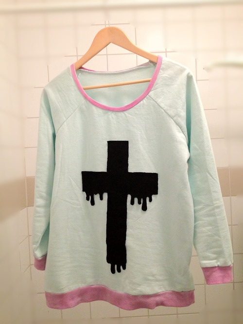 pastel images melting cross sweater wallpaper and