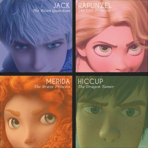 Merida Hiccup Rapunzel and Jack