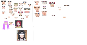 Messing around with naruto faces. :P