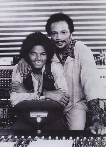 Michael And Quincy Jones In The Recording Studio