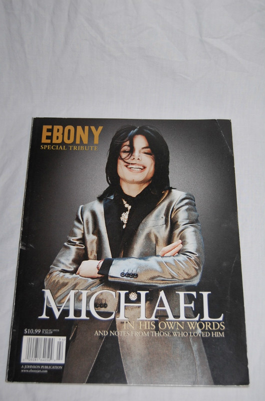 Michael On The Cover Of The Commemorative Issue Of EBONY Magazine