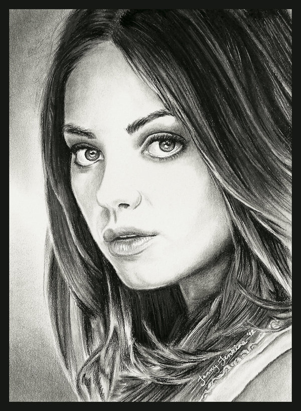 Mila Kunis drawing 의해 Jenny Jenkins
