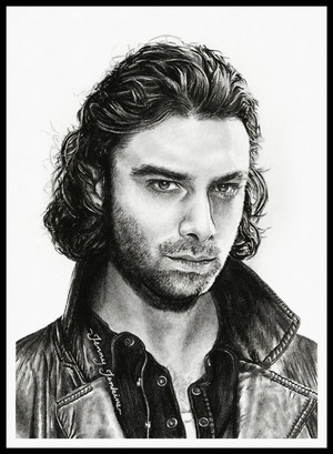Mitchell (Aidan Turner) drawing سے طرف کی Jenny Jenkins