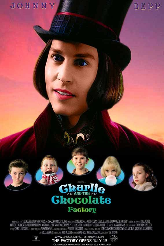 Movie Poster For The 2005 Film   quot Charlie And The Chocolate FactoryCharlie And The Chocolate Factory Movie Poster