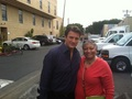 Nathan and a fan-BTS 6x23 - nathan-fillion-and-stana-katic photo
