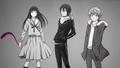 Noragami (Yukine, Yato and Hiyori)