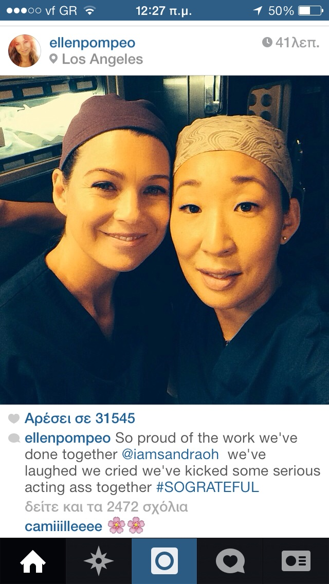 OMG ELLEN POSTED A PIC FOR SANDRA!
