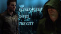 Oliver Queen saves the city