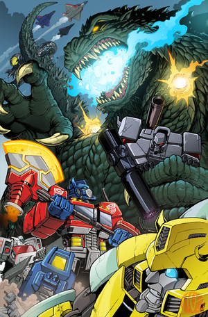 Optimus vs Godzilla
