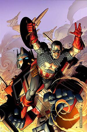 Optimus vs captain america