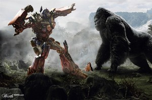 Optimus vs king kong