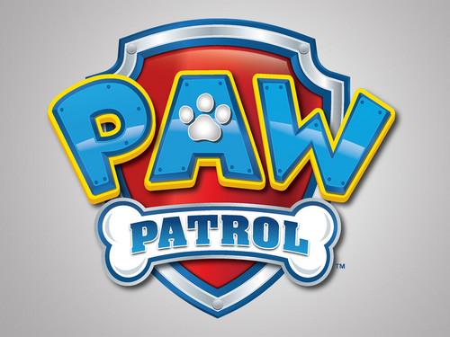 PAW Patrol karatasi la kupamba ukuta titled PAW Patrol logo