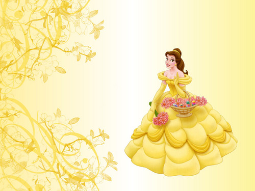 Princess Belle wallpaper probably containing a bouquet entitled PRINCESS BELLE