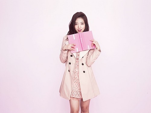 Park Shin Hye wallpaper possibly containing a trench coat titled Park Shin Hye-Kiss