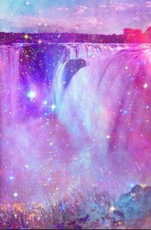 Pastel Waterfall iPhone karatasi la kupamba ukuta